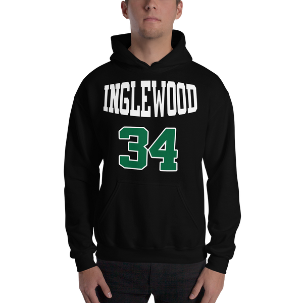 P. Pierce #34 Inglewood High School (Name & Number) Front & Back Hooded Sweatshirt
