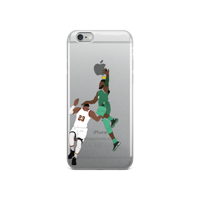 Jaylen Over LeBron (New King) Dunking Apple Logo iPhone Case (ALL IPHONES)