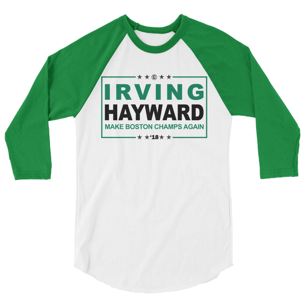 IRVING HAYWARD (Make Boston Champs Again) 3/4 Sleeve Shirt