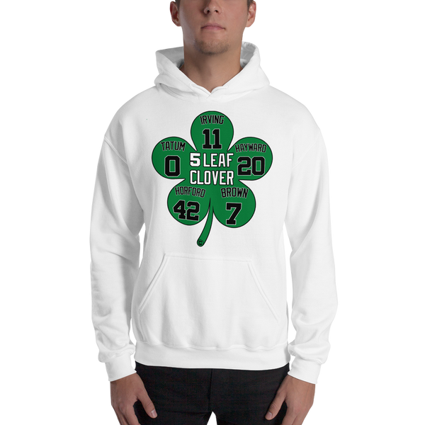 5 Leaf Clover Boston Starters Nickname Numbers Hooded Sweatshirt