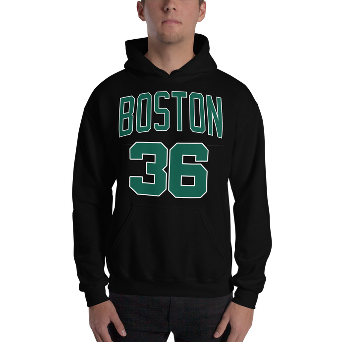 M. Smart #36 Boston (Name & Number) Front & Back Hooded Sweatshirt