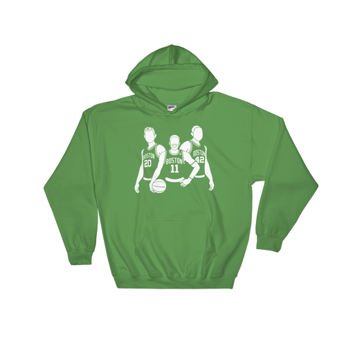 The NEW Boston Big 3 (Gordon Kyrie & Al) Hooded Sweatshirt