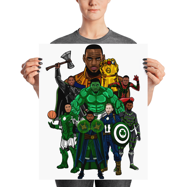 Boston Avengers (Beat LeBronos) Poster