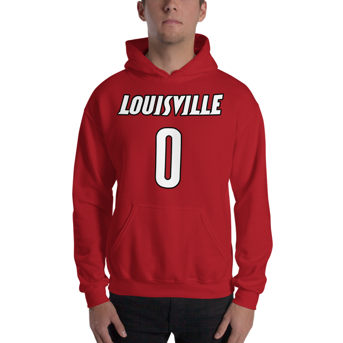T. Rozier #0 Louisville College (Name & Number) Front & Back Hooded Sweatshirt
