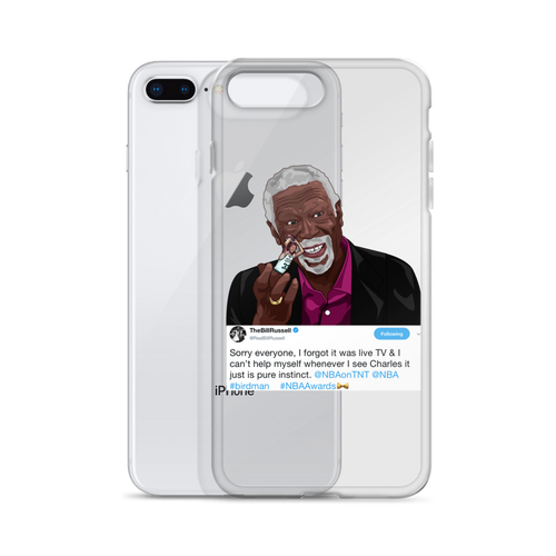 Bill Russell (Flipping the Bird) GOAT iPhone Case (ALL IPHONES)