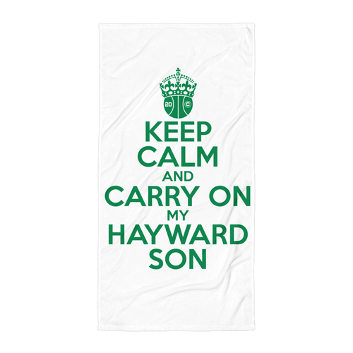 Keep Calm and Carry On My Hayward Son Beach Blanket