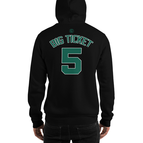 K. Garnett The Big Ticket #5 Boston (Nickname & Number) Front & Back Hooded Sweatshirt