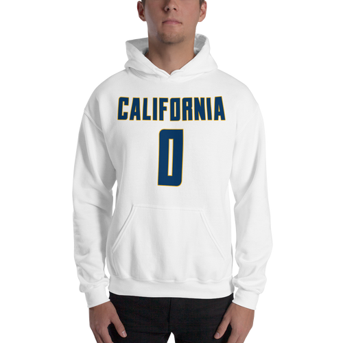 J. Brown #0 California College (Name & Number) Front & Back Hooded Sweatshirt