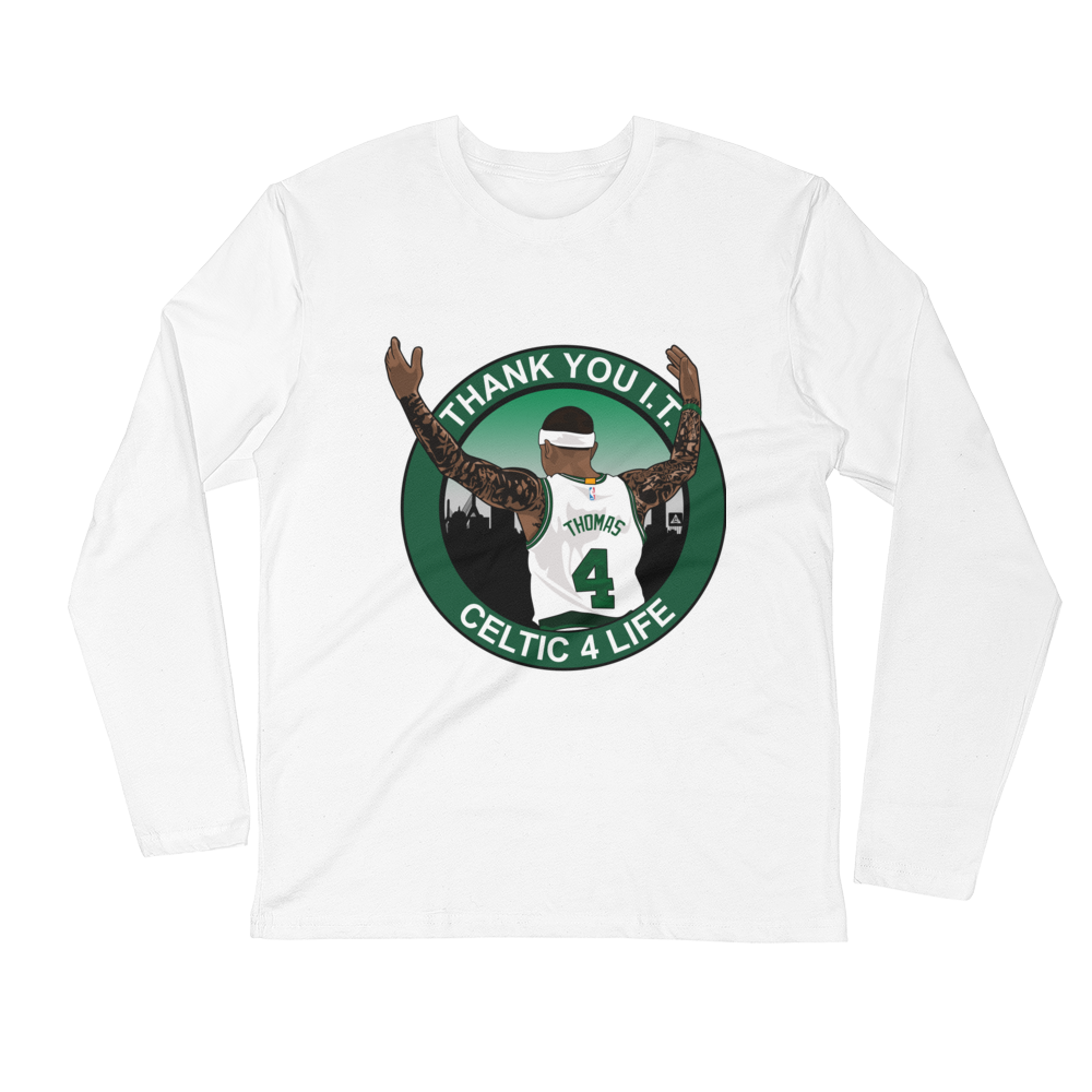 b814b3e0abc Thank You I.T. (Celtic 4 Life) Long Sleeve Fitted Crew – Celtics Social