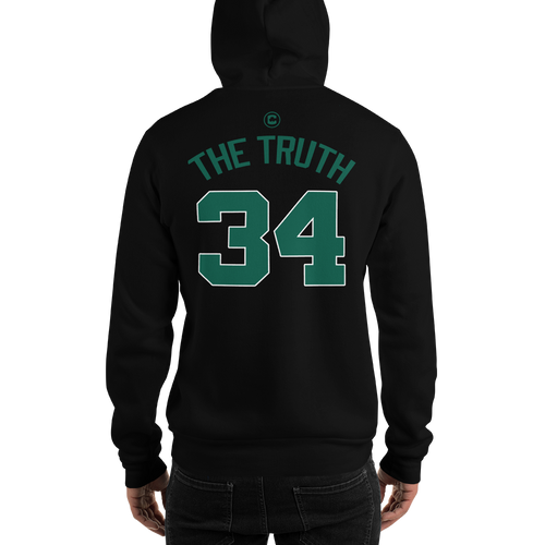 P. Pierce The Truth #34 Boston (Nickname & Number) Front & Back Hooded Sweatshirt