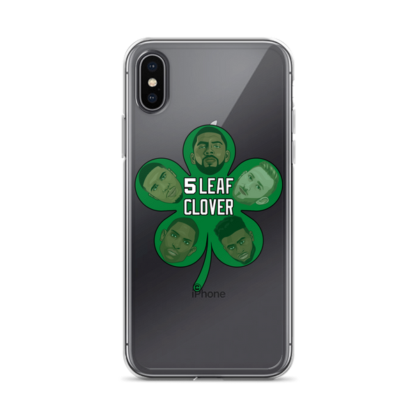 5 Leaf Clover Boston Starters Nickname iPhone Case