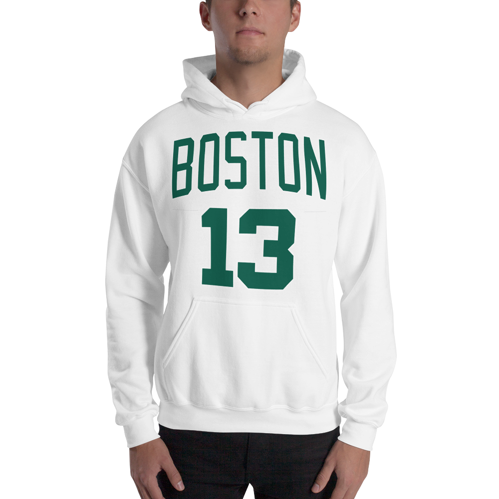 M. Morris #13 Boston (Name & Number) Front & Back Hooded Sweatshirt