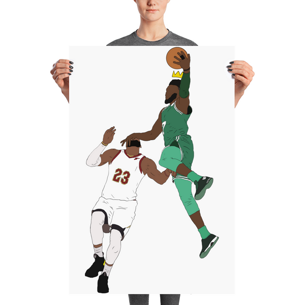 Jaylen Over LeBron (New King) Poster