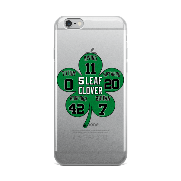 5 Leaf Clover Boston Starters Nickname Numbers iPhone Case