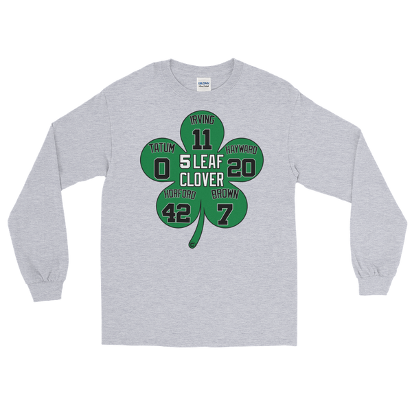 5 Leaf Clover Boston Starters Nickname Numbers Long Sleeve T-Shirt