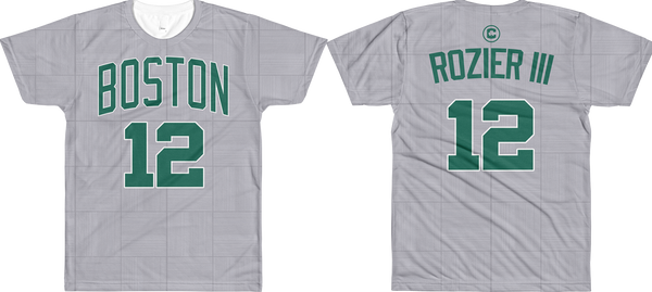 T. Rozier III #12 City Edition Court (Name & Number) All-Over T-Shirt