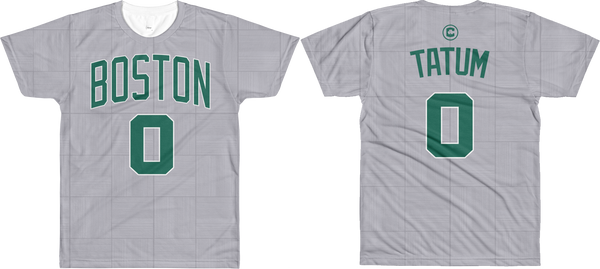 J. Tatum #0 City Edition Court (Name & Number) All-Over T-Shirt