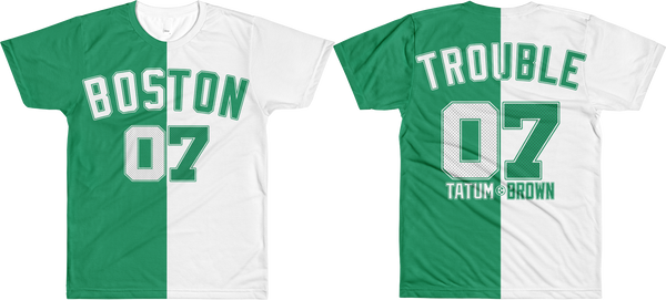 Boston TROUBLE 07 (Tatum & Brown) Split T-Shirt