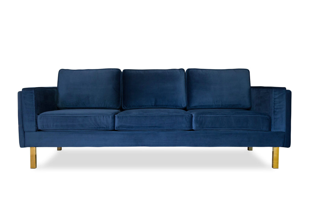 Lexington Velvet Sofa (Blue)
