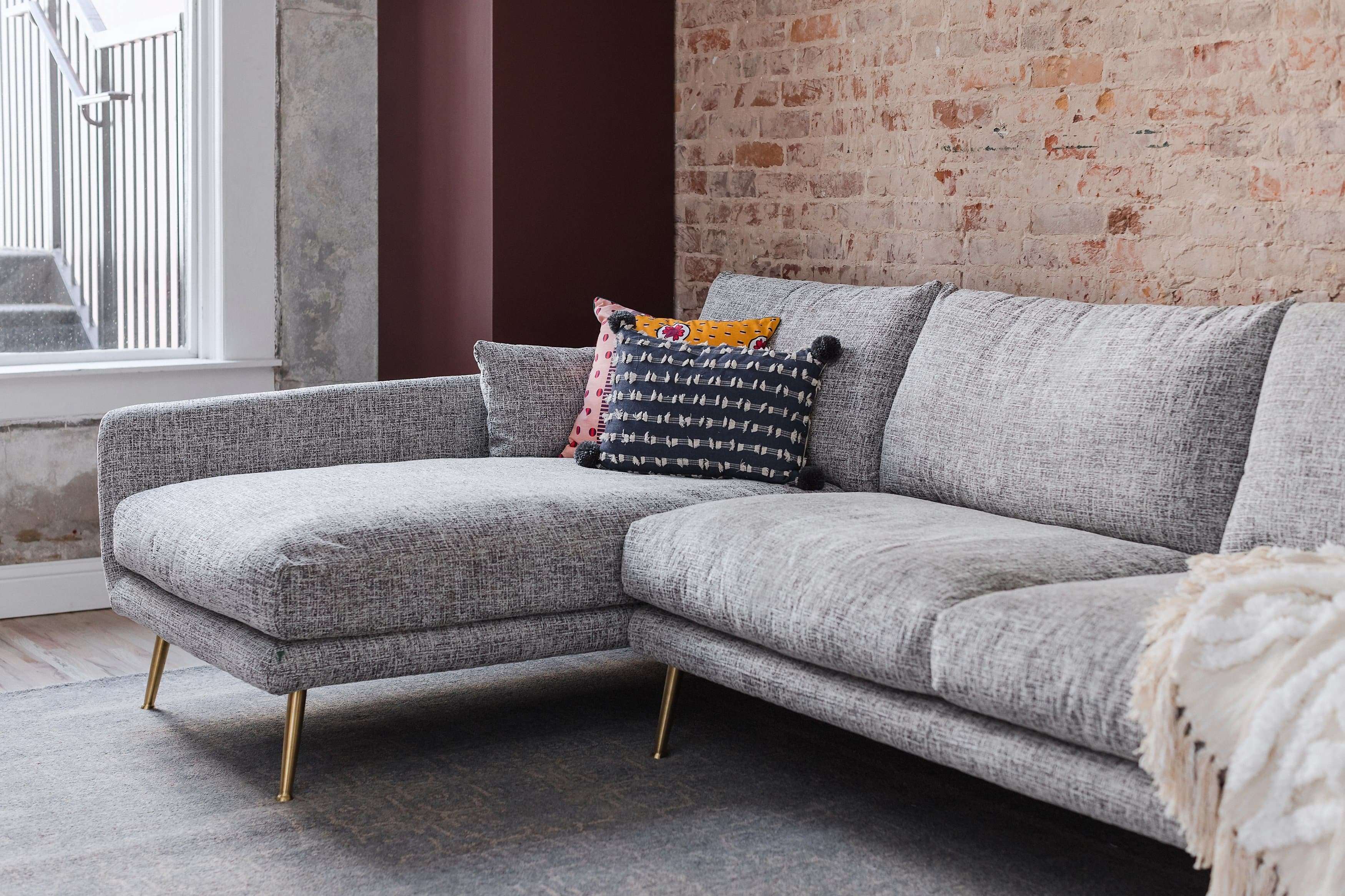 Harlow Mid-Century Modern Sectional Sofa - Down Feathers ...