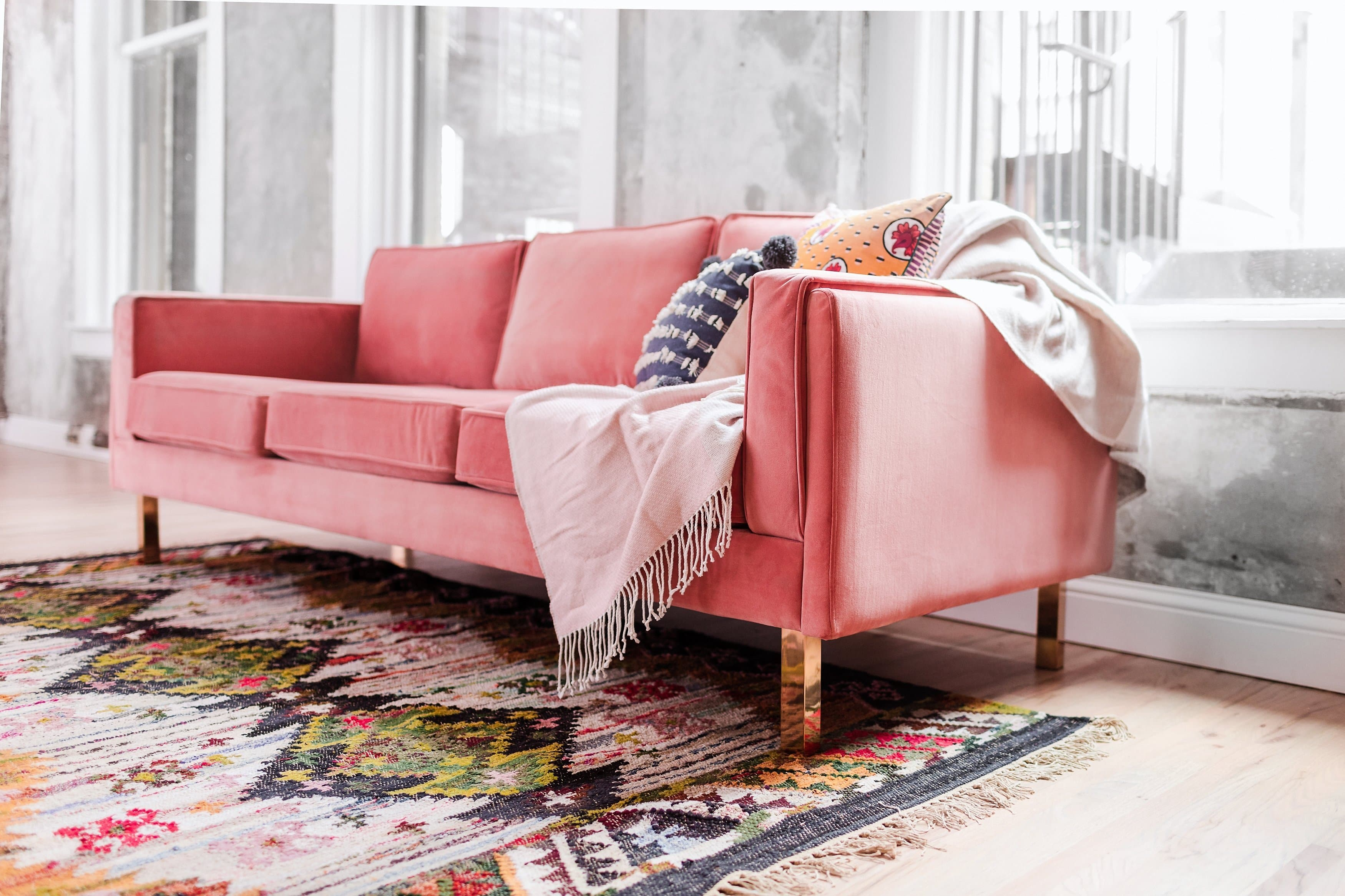 Remarkable Lexington Velvet Sofa Blush Pink Dailytribune Chair Design For Home Dailytribuneorg