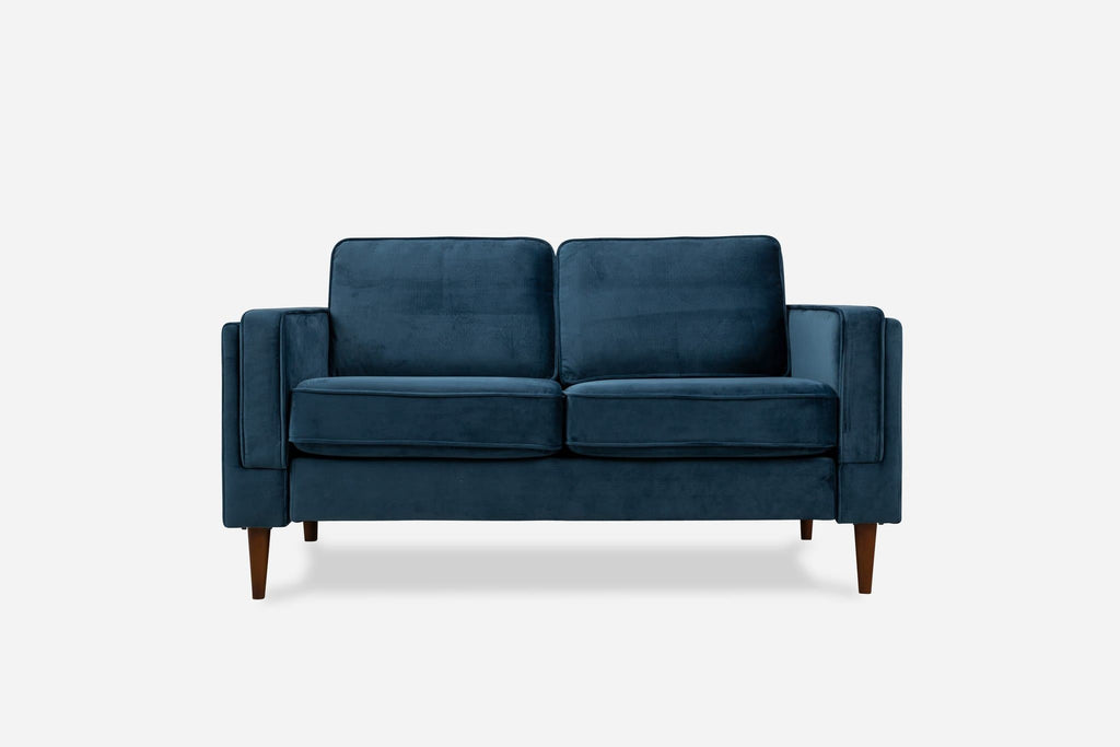 Albany Velvet Loveseat (Blue)