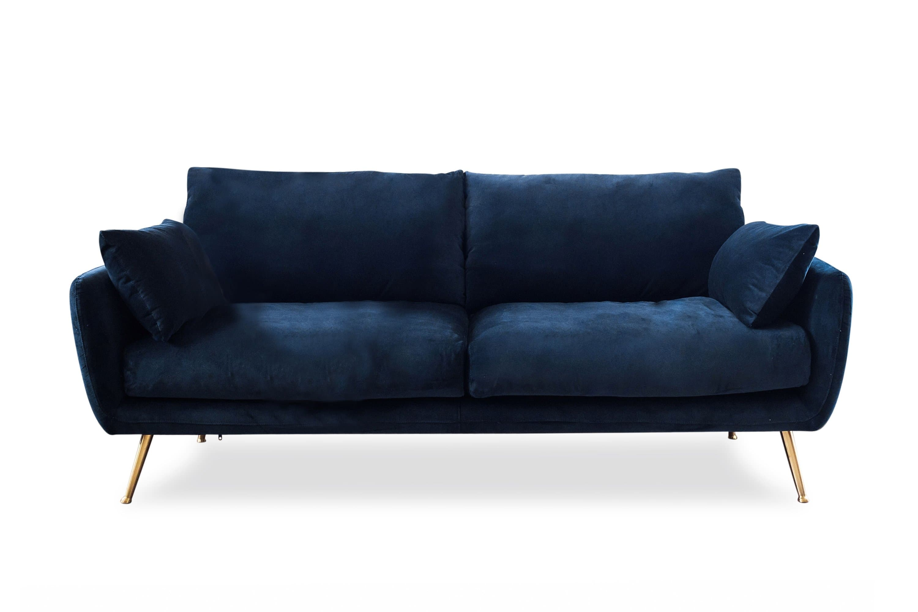 Harlow Sofa (Blue Velvet) - Edloe Finch Furniture Co.