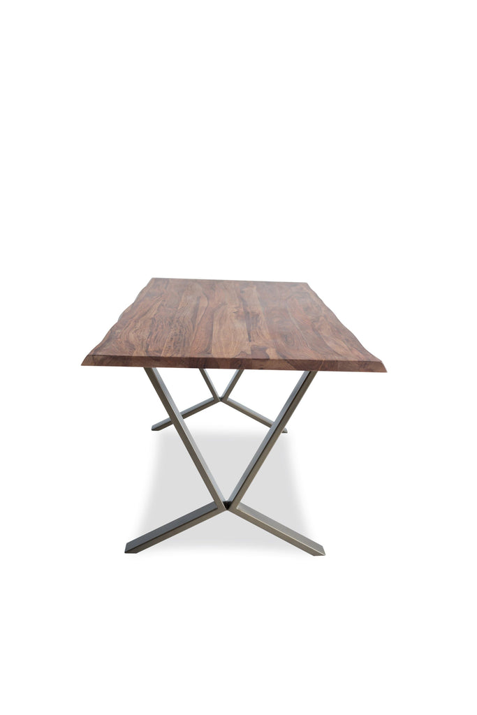Zoë Dining Table (Brass)