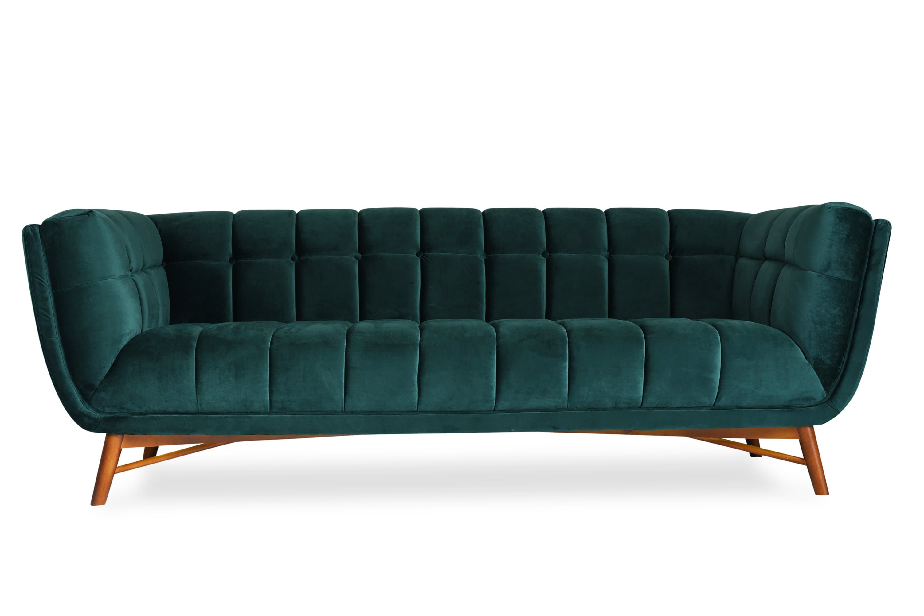 Tribeca Velvet Sofa - Edloe Finch Furniture Co.