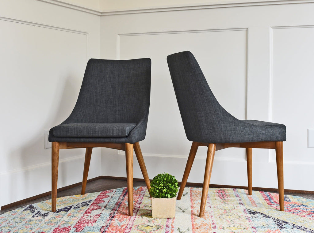 Jessica Dining Chair, Dark Grey (Set of 2)