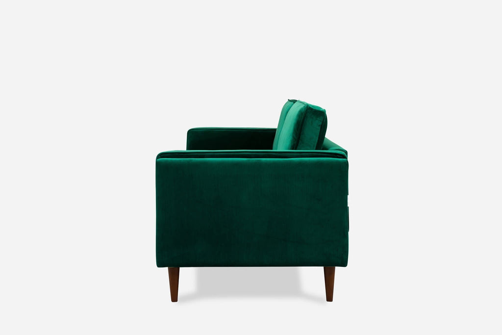 Albany Velvet Loveseat (Green)