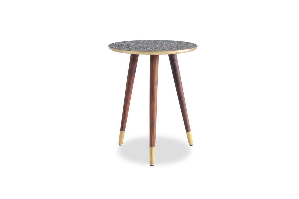 Mira End Table (Brass)