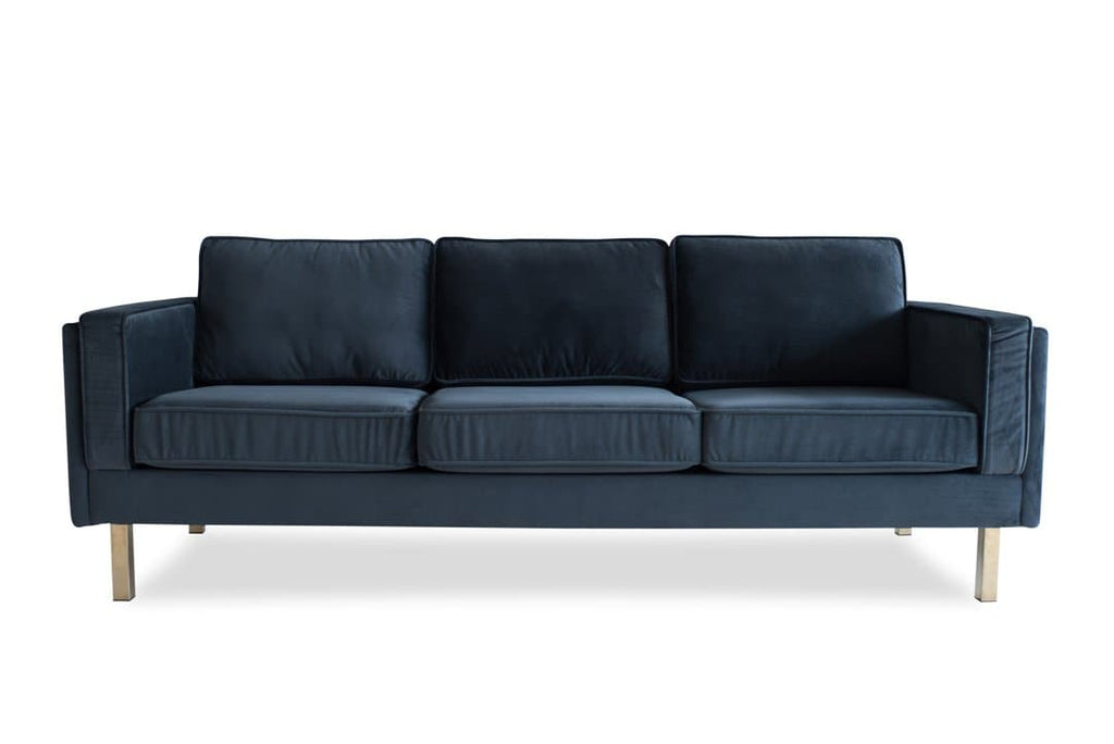 Lexington Velvet Sofa (Grey)