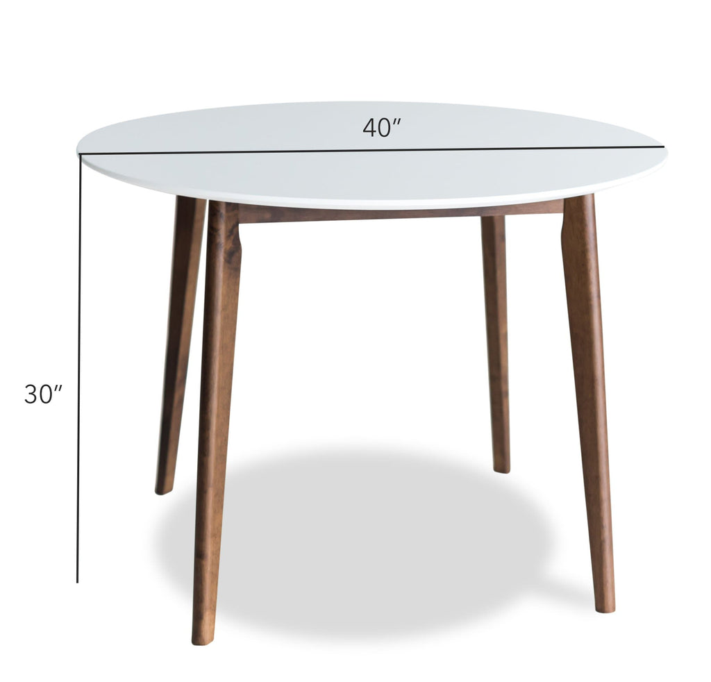 Dakota Dining Table Set (White)