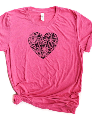Flower Heart - Unisex Crew Neck TShirt