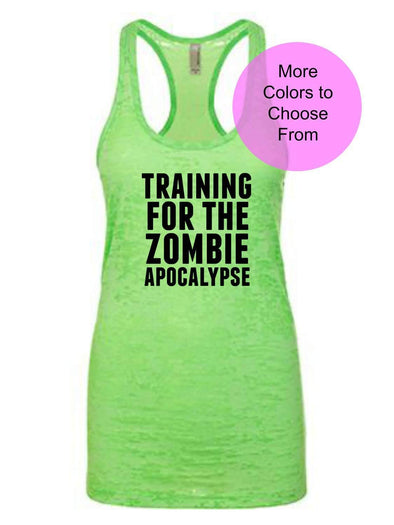 Training For The Zombie Apocalypse - Burnout Tank Top - Black Ink
