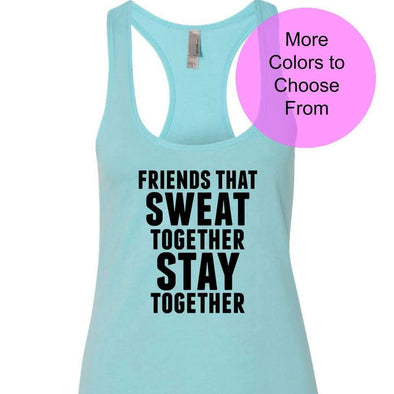 Friends That Sweat Together Stay Together - Terry Tank - Black Ink