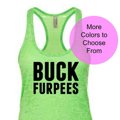 Buck Furpees - Burnout Tank - Black Ink