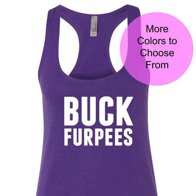 Buck Furpees - Terry Tank - White Ink