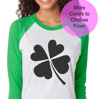 St Patrick's Day Shirts - Various Sayings - Raglan Baseball 3/4 Sleeve Shirt