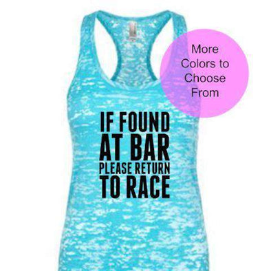 If Found At Bar Please Return To Race - Burnout Tank Top - Black Ink