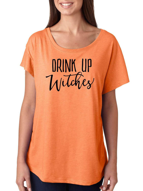 Drink Up Witches - Short Sleeve Slouchy Style Shirt
