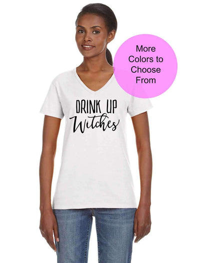 Drink Up Witches - Women's VNeck TShirt