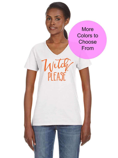 Witch Please - Women's VNeck Shirt