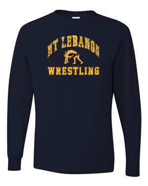 Navy Lebo Wrestling Long Sleeve Tee