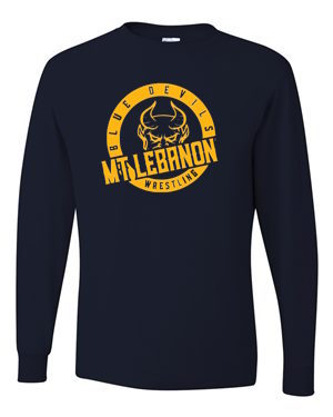 Navy Lebo Blue Devil Wrestling Long Sleeve Tee