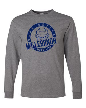 Grey Lebo Blue Devils Wrestling Long Sleeve Tee Navy