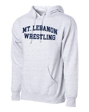 Grey Lebo Blue Devils Old School Wrestling Hoodie (Navy print)