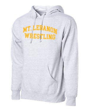 Grey Lebo Blue Devils Old School Wrestling Hoodie (Gold print)