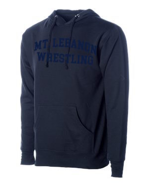 Navy Lebo Blue Devils Old School Wrestling Hoodie (Navy print)